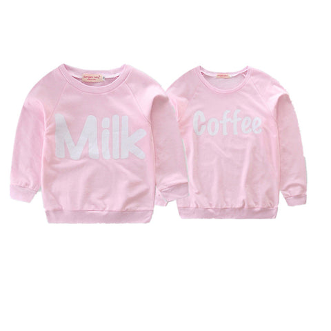 Cute matching sweatshirts for mom and baby