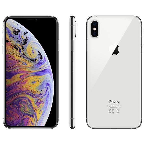 Apple iPhone Xs Max - Argent - 256 GB - Écran 6.5'' - Occasion reconditionné - Grade Ruby