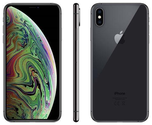 Apple iPhone Xs Max - Gris Sidéral - 256 GB - Écran 6.5'' - Occasion reconditionné - Grade Sapphire