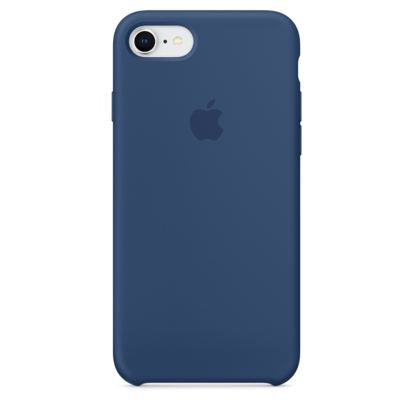 Apple Coque Silicone iPhone 7 / iPhone 8 - Bleu Cobalt- Neuf d'origine