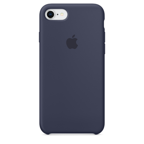 Apple Coque Silicone iPhone 7 / iPhone 8 - Bleu nuit- Neuf d'origine