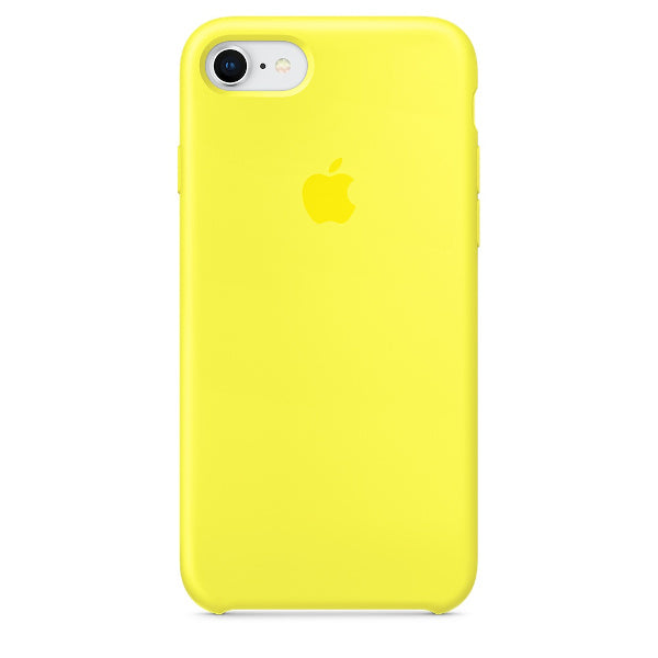Apple Coque Silicone iPhone 7 / iPhone 8 - Jaune Flashy- Neuf d'origine