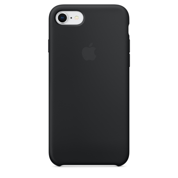 Apple Coque Silicone iPhone 7 / iPhone 8 - Noir- Neuf d'origine