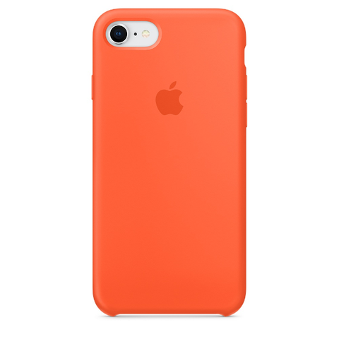 Apple Coque Silicone iPhone 7 / iPhone 8 - Orange curcuma- Neuf d'origine