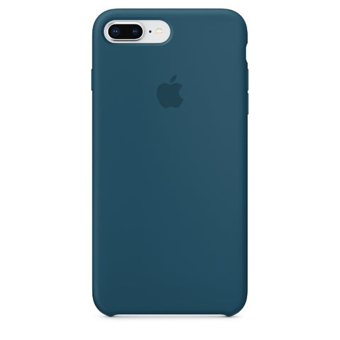 Apple Coque Silicone iPhone 7 Plus / iPhone 8 Plus - Bleu Cosmos- Neuf d'origine