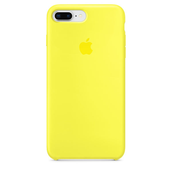 Apple Coque Silicone iPhone 7 Plus / iPhone 8 Plus - Jaune Flashy- Neuf d'origine