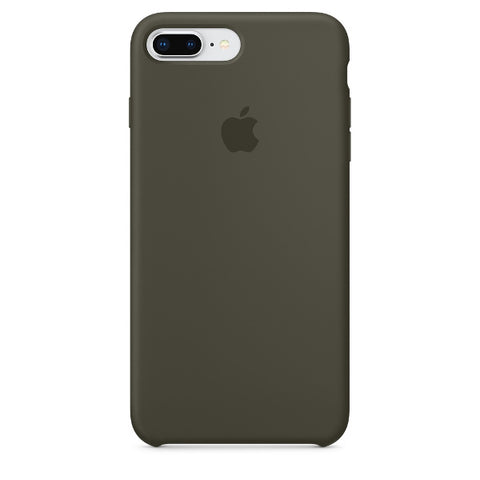 Apple Coque Silicone iPhone 7 Plus / iPhone 8 Plus - Olive sombre- Neuf d'origine