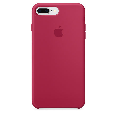 Apple Coque Silicone iPhone 7 Plus / iPhone 8 Plus - Rose Rouge- Neuf d'origine