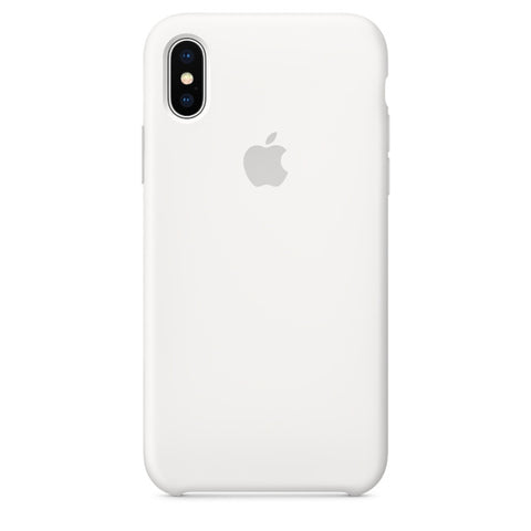 Apple Coque Silicone iPhone X - Blanc- Neuf d'origine