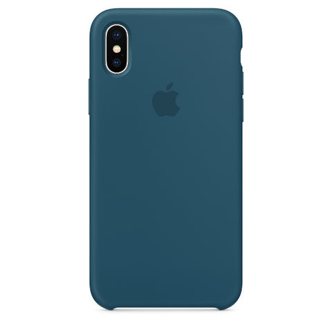 Apple Coque Silicone iPhone X - Bleu Cosmos- Neuf d'origine