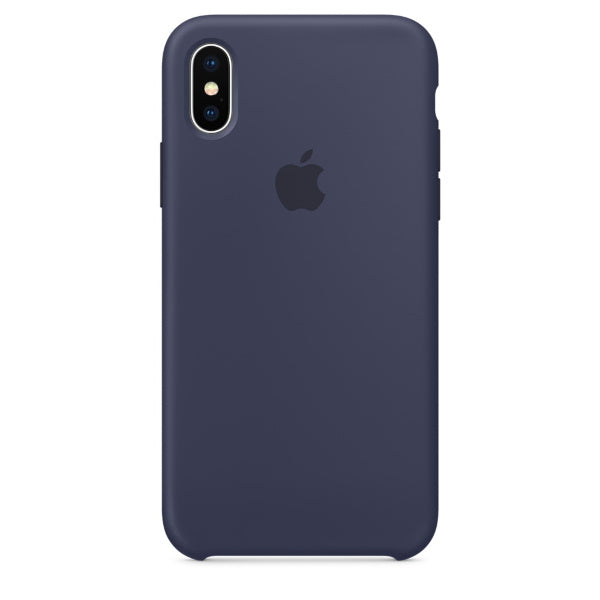 Apple Coque Silicone iPhone X - Bleu nuit- Neuf d'origine
