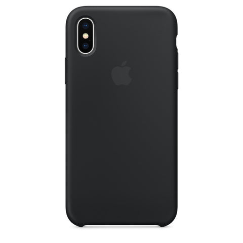 Apple Coque Silicone iPhone X - Noir- Neuf d'origine