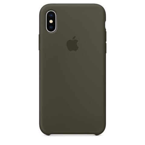 Apple Coque Silicone iPhone X - Olive sombre- Neuf d'origine