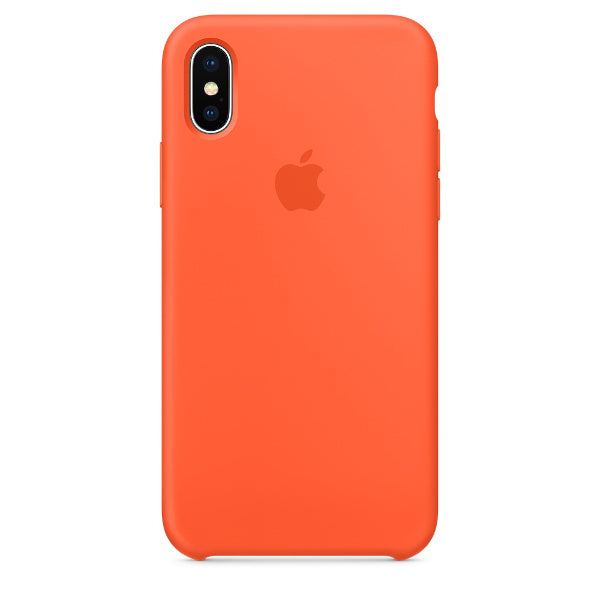 Apple Coque Silicone iPhone X - Orange curcuma- Neuf d'origine