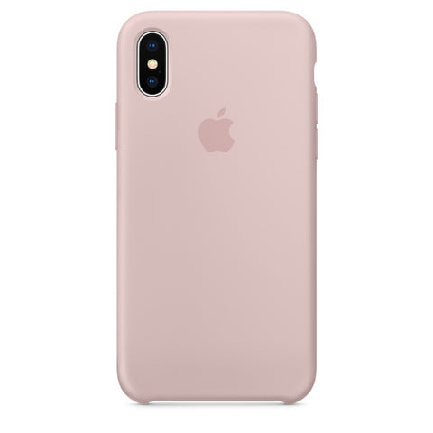 Apple Coque Silicone iPhone X - Rose des sables- Neuf d'origine