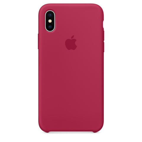 Apple Coque Silicone iPhone X - Rose Rouge- Neuf d'origine