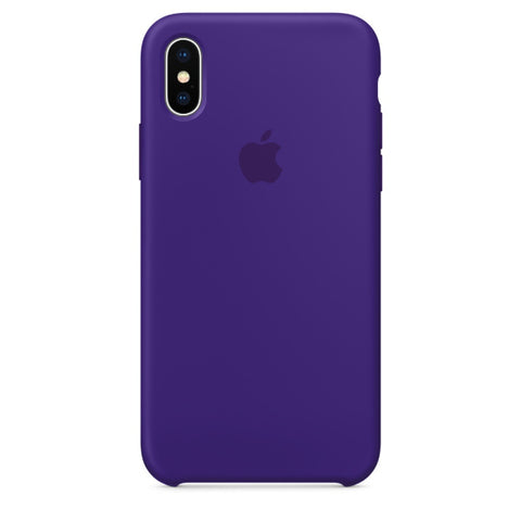 Apple Coque Silicone iPhone X - Ultraviolet- Neuf d'origine