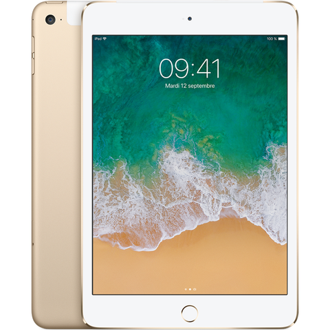 Apple iPad Mini 4 Wi-Fi + Cellular - Or - 128 GB - Écran 7.9'' - Occasion reconditionné - Grade Diamond