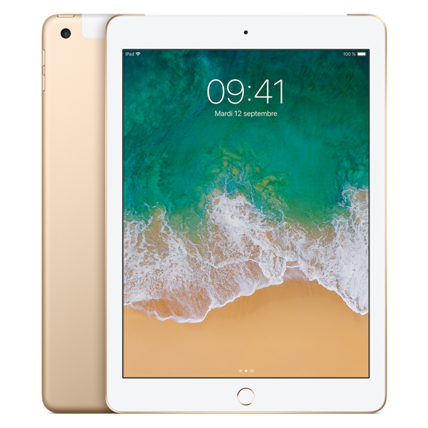 Apple iPad Wi-Fi + Cellular - Or - 128 GB - Écran 9.7'' - Neuf d'origine