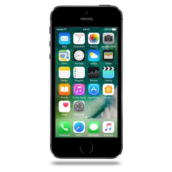 Apple iPhone 5s - Gris Sidéral - 16 GB - Écran 4'' - Occasion reconditionné - Grade Ruby