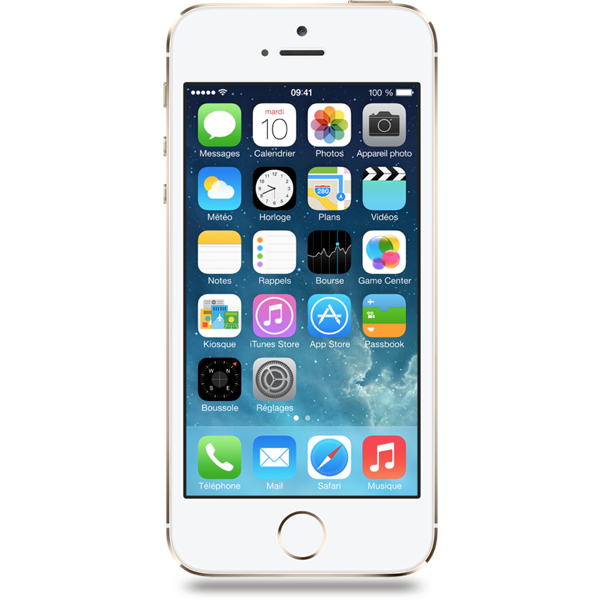 Apple iPhone 5s - Argent - 32 GB - Écran 4'' - Occasion reconditionné - Grade Diamond