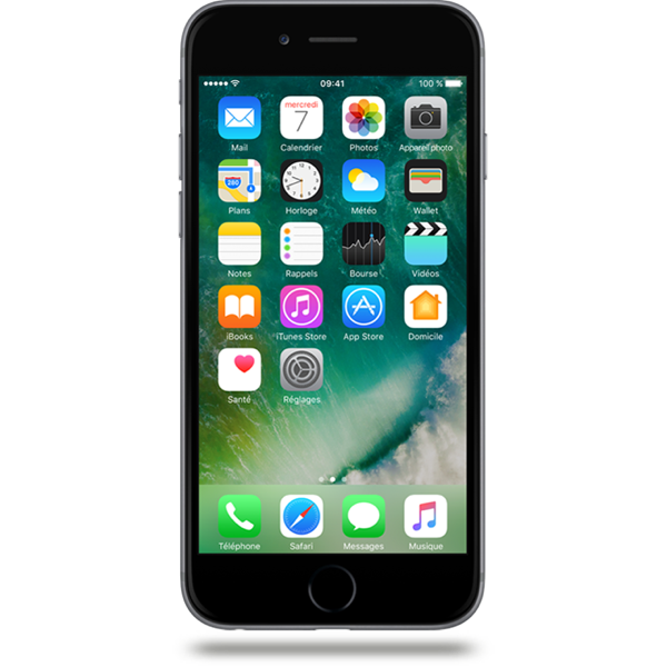 Apple iPhone 6 - Gris Sidéral - 128 GB - Écran 4.7'' - Occasion reconditionné - Grade Sapphire