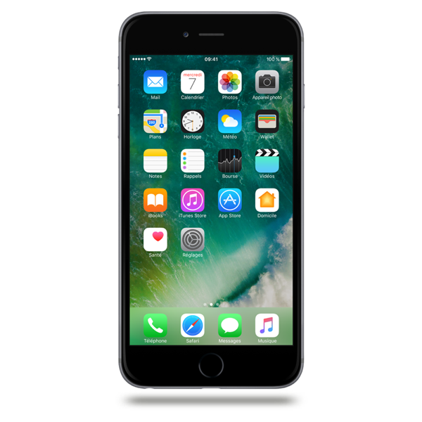 Apple iPhone 6 Plus - Gris Sidéral - 64 GB - Écran 5.5'' - Occasion reconditionné - Grade Emerald