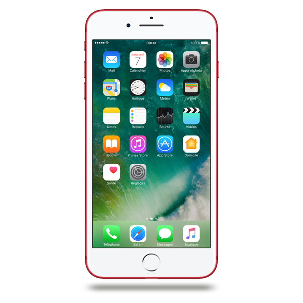 Apple iPhone 7 Plus - Rouge - 128 GB - Écran 5.5'' - Occasion reconditionné - Grade Diamond
