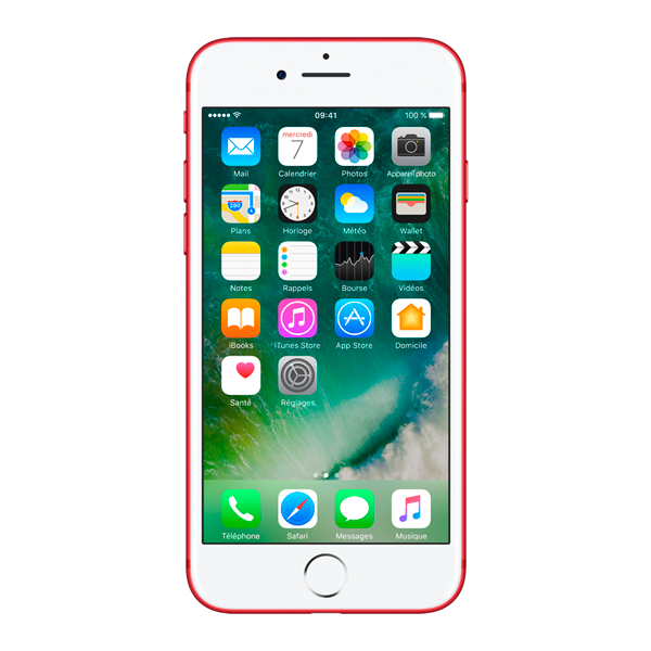 Apple iPhone 7 - Rouge - 128 GB - Écran 4.7'' - Occasion reconditionné - Grade Emerald