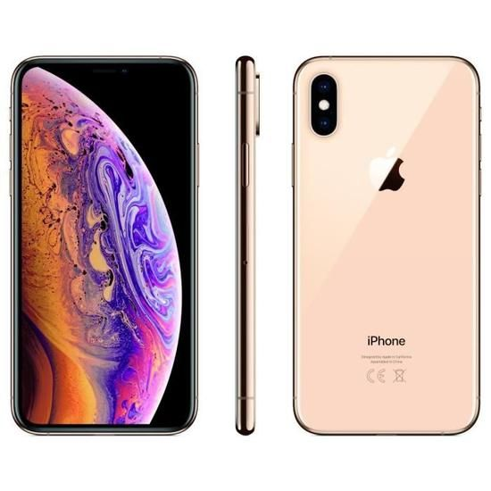 Apple iPhone Xs - Or - 64 GB - Écran 5.8'' - Occasion reconditionné - Grade Diamond