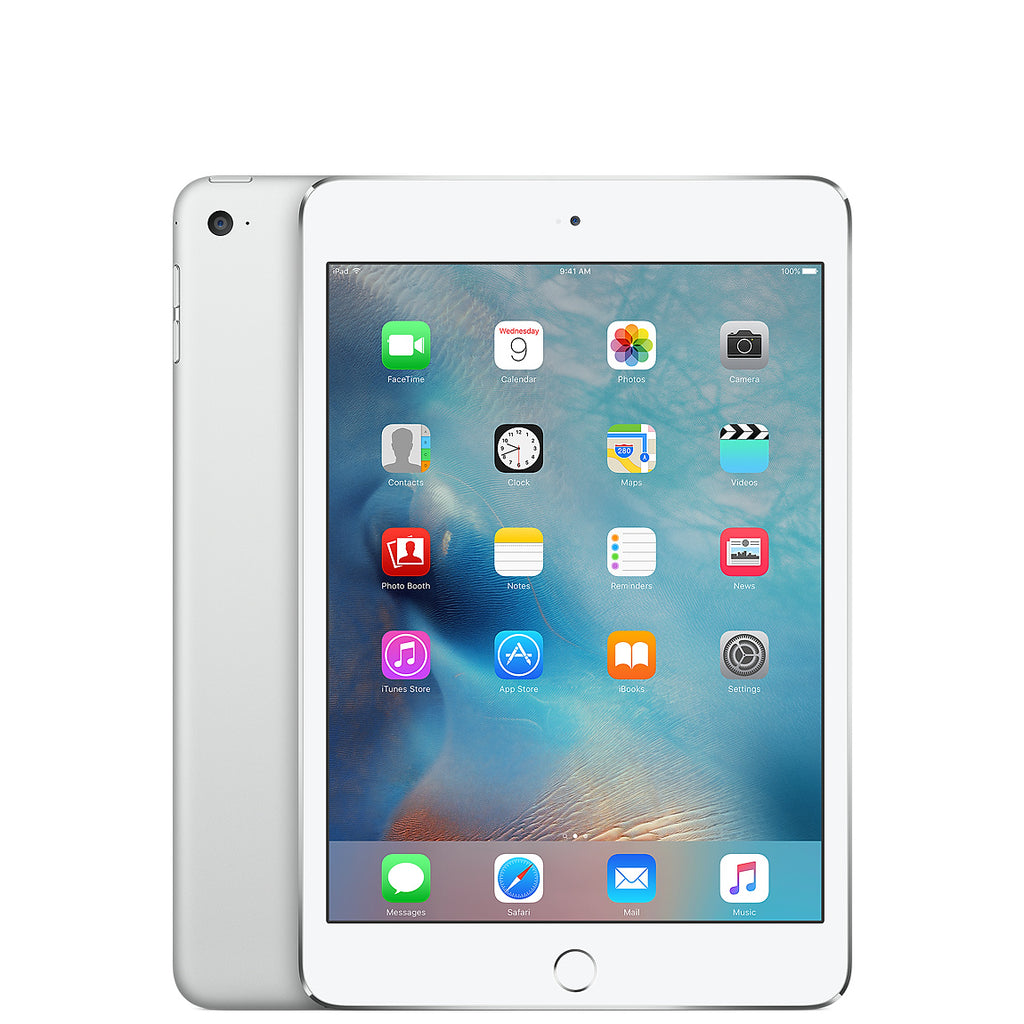 Apple iPad Mini 4 Wi-Fi + Cellular - Argent - 32 GB - Écran 7.9'' - Occasion reconditionné - Grade Diamond