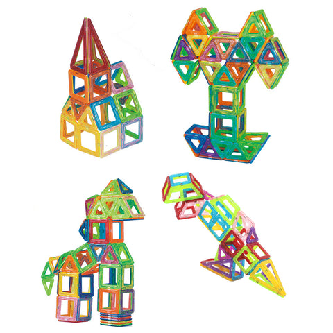 Image of 32pcs Magnetic Building Blocks for Stimulating Creativity and Development