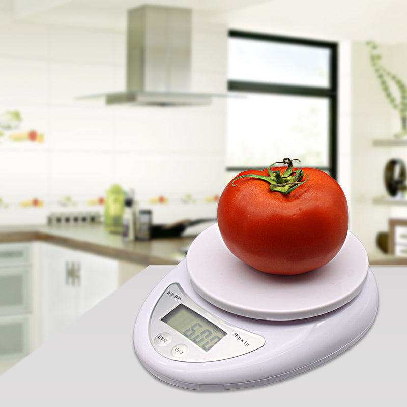 5KG/1g Portable Electronic Digital Scale for Kitchen/Postal/Laboratory