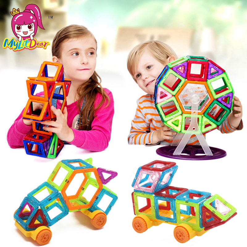 97pcs Magnetic Building Blocks for Stimulating Creativity and Development
