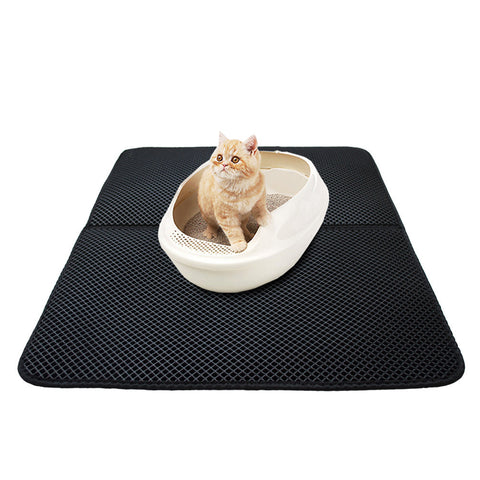 Double-Layer Cat Litter Mat with Litter Shovel