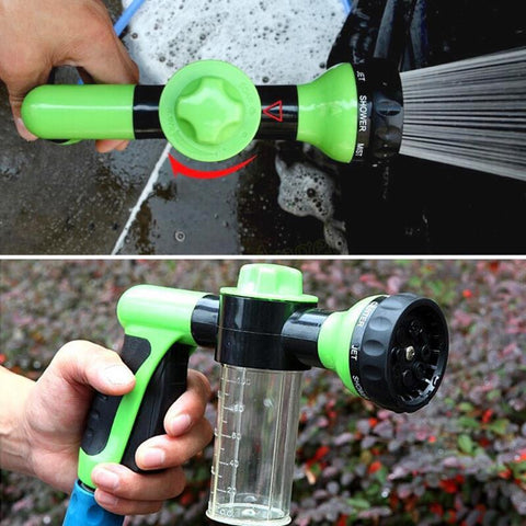 Image of Green Multifunctional High Pressure Water Foam Spray Gun