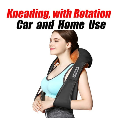Electric Shiatsu Body Massager Shawl for use in Home & Car