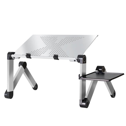 Image of Adjustable Portable Ergonomic Laptop Desk With Ambidextrous Mouse Pad Stand