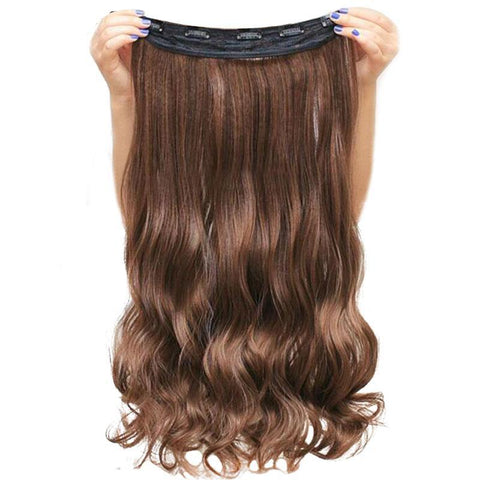Synthetic Curly Long Clip-in Hair Extensions