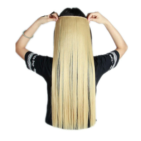 Trendy Women's Straight Hair Clip-In Extensions