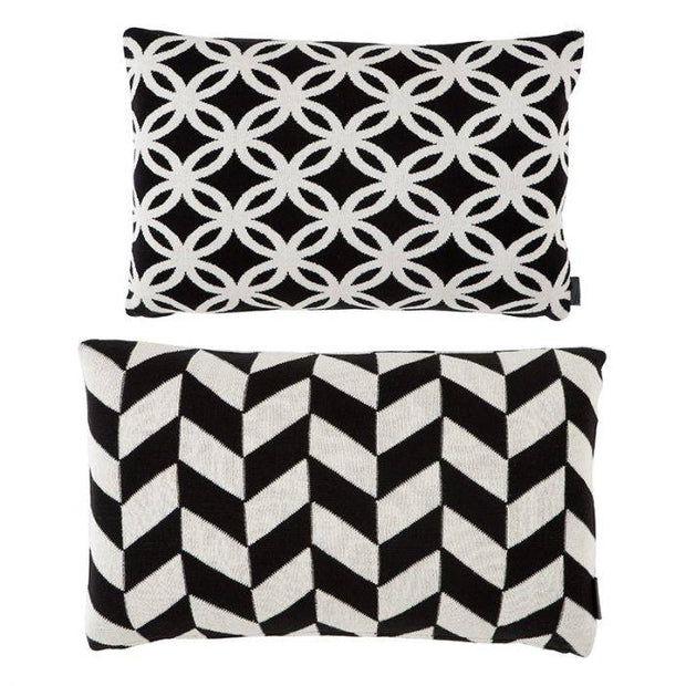 Cushion Wearstler set of 2 black/white