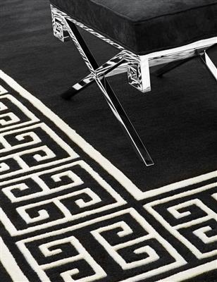 Apollo Carpet Black & Off-white 300x300 cm