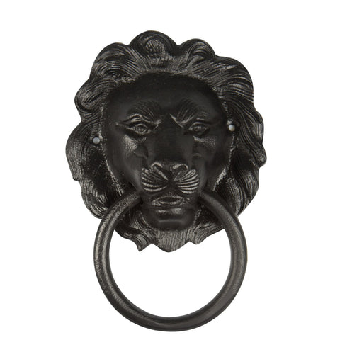 Lion Door Knocker Black