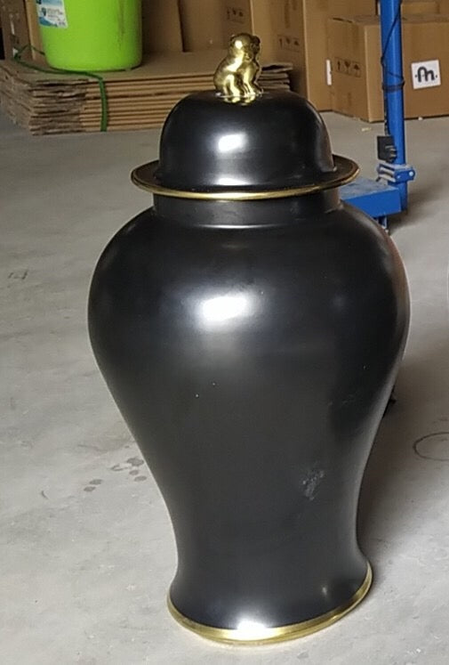 Jar Large Black/Gold