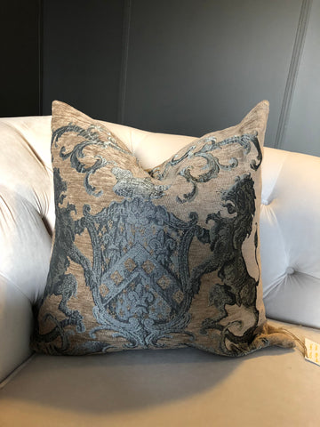 Cushion Fiori Taupe/Silver