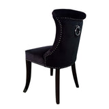 Kaftan Dining Chair Black Velvet