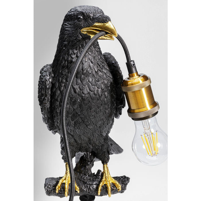 Bord Lampe Crow Sort/Gull