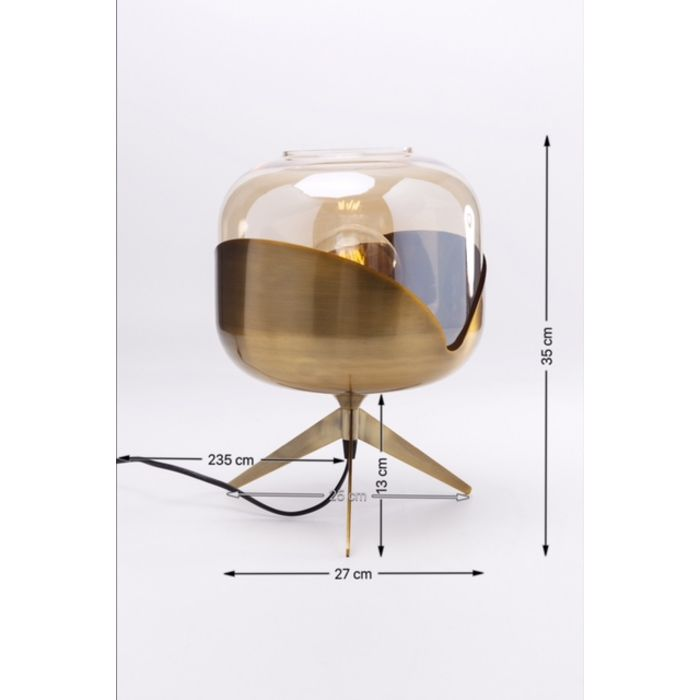 Bordlampe Golden Ball H.35 cm