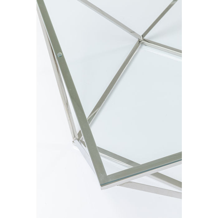 Salongbord Cristallo Sølv/Glass 80 cm INTROPRIS