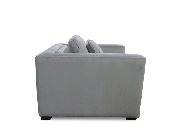Chestina Grey Velvet Armchair
